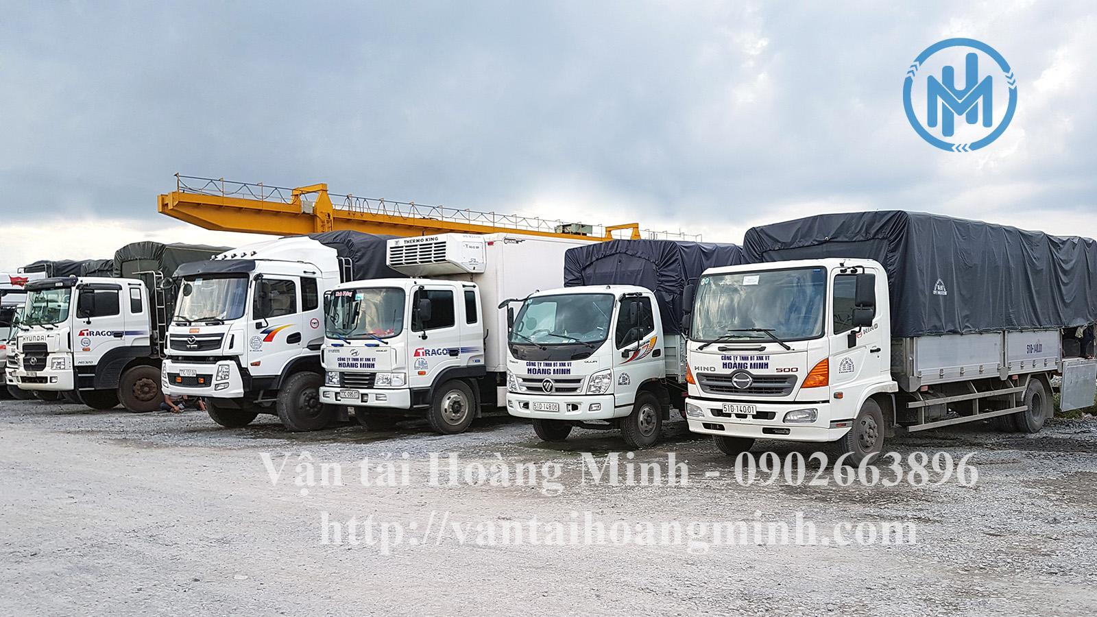 xe vận chuyển hàng tại tphcm của vận tải hoàng minh